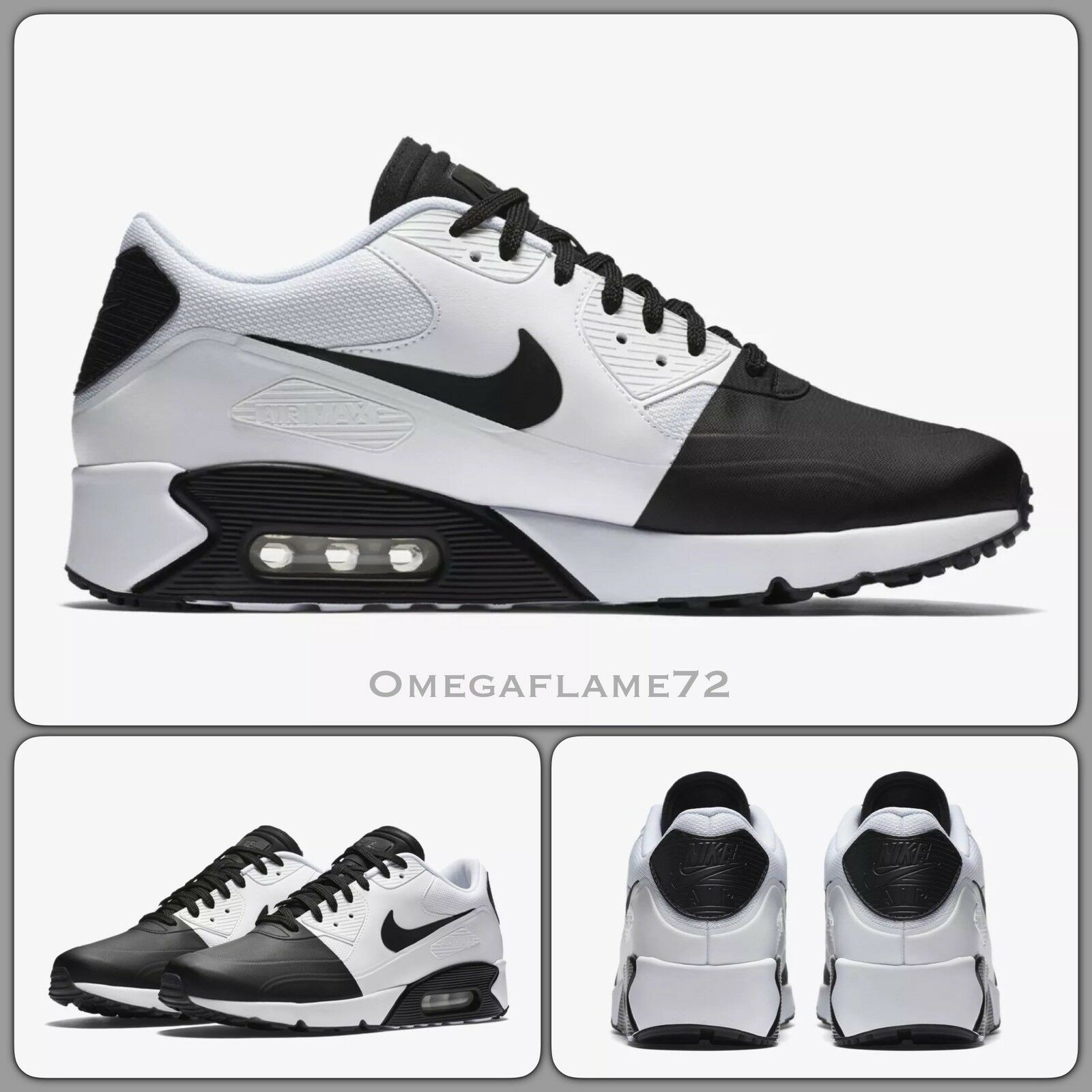 Nike Air Max90 Ultra 2.0 SE, Black Black Black & White, 876005-002 USA 11 88215d
