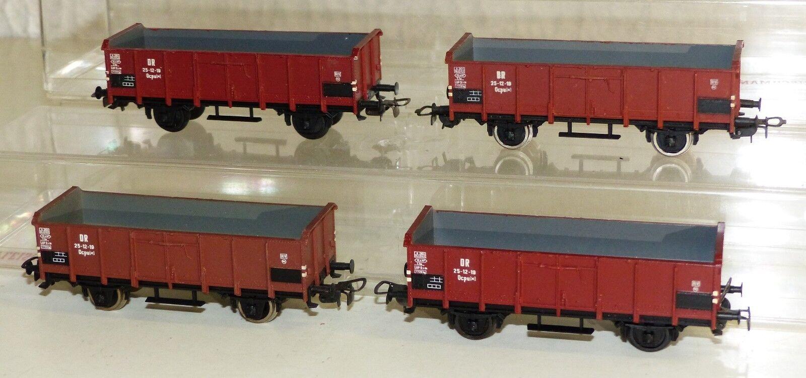 4x Piko Hochbordwagen DR 25-12-19 Ocpu (x) H0