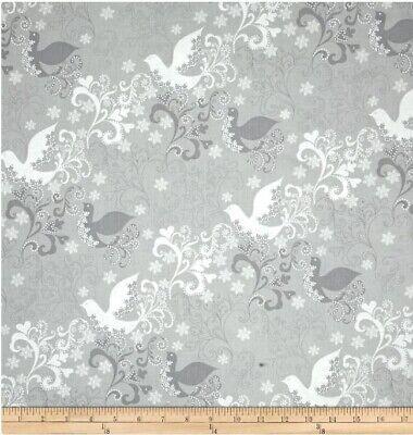 Windham Glisten by Whistler Studios 40299M 2 Silver Reindeer Cotton Fabric