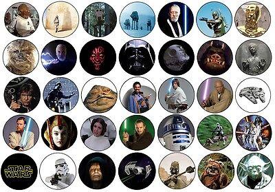 Star Wars Badges Keyrings Magnets Bottle Openers Mirrors Jedi Yoda Vader Force