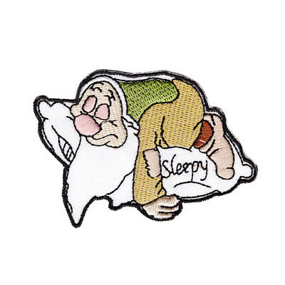 Snow White And The Seven Dwarfs Sleepy Character Iron On Patch