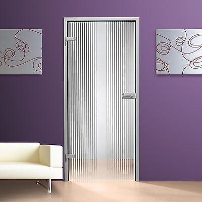 Baustoffe & Bauelemente Business & Industrie Glastür Gds274-f Klarglas Mit Streifendekor Offensichtlicher Effekt