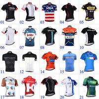 2016 Mens Road Bike Sports Garments Breathable Cycling Jersey Short Sleeve Shirt
