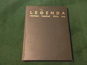 Original LEGENDA 1931 Arthur Hill High School Saginaw, Michigan Yearbook (518)