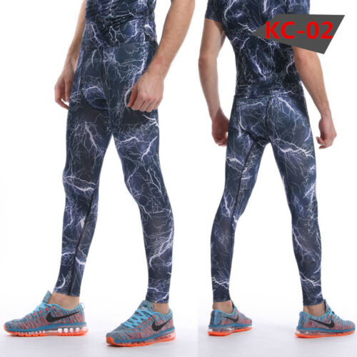 Men/'s Athletic Gym Compression Tights Camo Running Jogging Long Pants Quick-dry