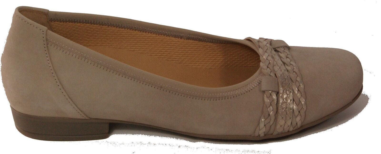 Gabor skor Pump Ballerinas grå Real Nubuck Nubuck Nubuck läder Borttagbar Fotplats Ny  njuter av din shopping