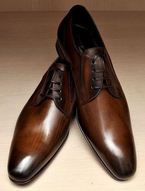 Gli uomini fatti a mano BROWN Derby Abito misura Formale Scarpe fatte su misura Abito per uomini dc782a