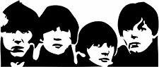 Etiqueta Engomada De Corte De Vinilo De Los Beatles caras 250x115mm-entrega UK LIBRE Pared Arte