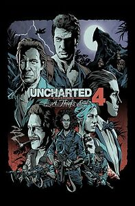 Rgc Huge Poster Uncharted 4 Thief S End Nathan Ps4 Ps3 Xbox One