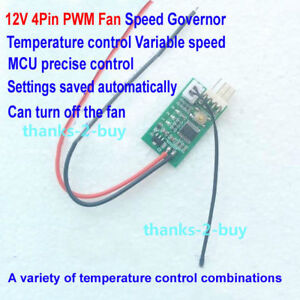 Details about DC 12V 3A PC CPU 4Pin PWM Fan Thermostat Governor Speed  Controller Noise Reducer