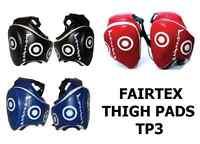 Fairtex Muay Thai Thigh Pads Tp3 Black Red Blue Yellow Kick Boxing Protective