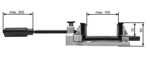 WABECO Maschinenschraubstock 100 mm Werkbank Schraubstock 40523