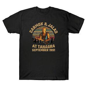 Darmok-et-jalad-sur-Tanagra-septembre-1991-Vintage-Men-039-s-T-Shirt-Marine-Noir-Tee