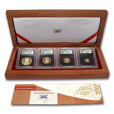 2007 South Africa 4-Coin Gold Krugerrand Proof Set (FS) - SKU #59329