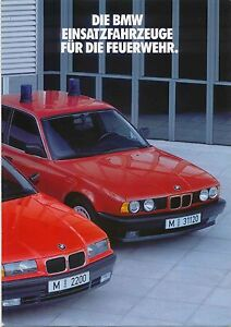 BMW 3-Series & 5-Series Fire Service Vehicles 1991-92 Original German Brochure