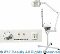 Aromatherapy Ozone Facial Steamer Led Magnifying Lamp Beauty Spa Salon Equipment on sale
