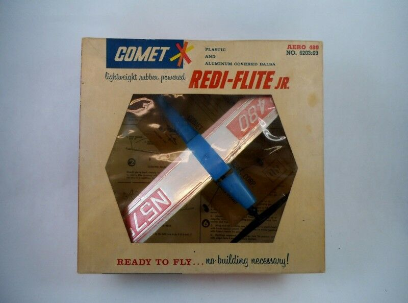 1960's Vintage Comet rossoi-Flight Jr. Rubber Powerosso Aero 480 MIB No. 6203:69