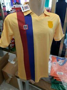 Rebajas-Camiseta-Meyba-F-C-Barcelona-84-89-away-Yellow
