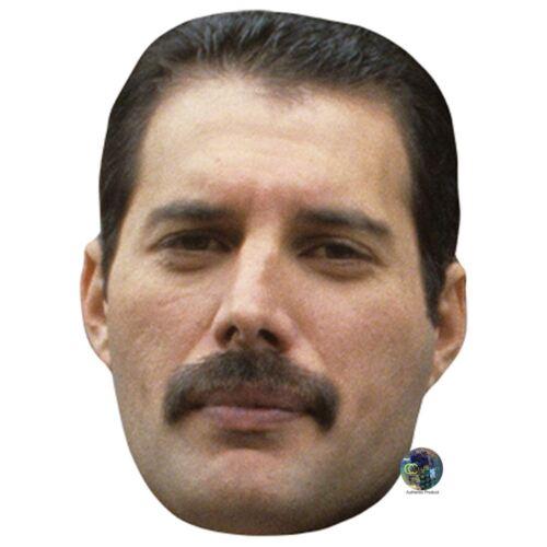 Card Face and Fancy Dress Mask Freddie Mercury Celebrity Mask