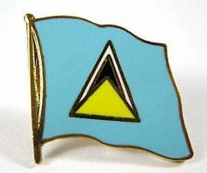 St-Lucia-Flaggen-Pin-Anstecker-1-5-cm-Neu-mit-Druckverschluss