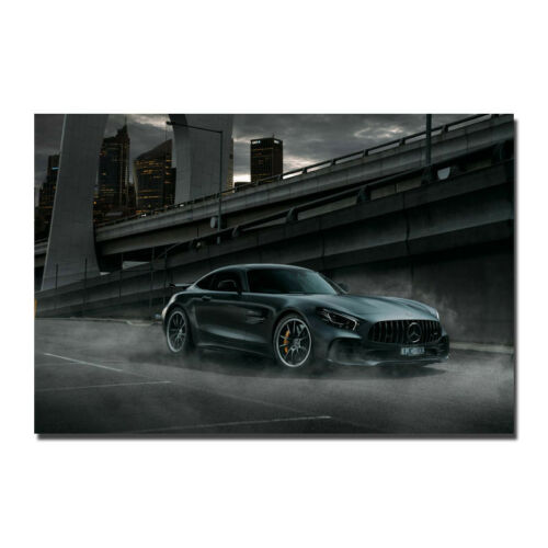 Mercedes Benz GTR AMG NX Art Silk Canvas Poster 12x18 32x48 inch