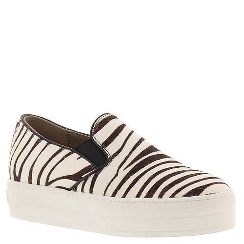 Skechers Platform Zebra Stripe Faux Fur Rise Fit Studded Back Slip-Ons Wms NWT