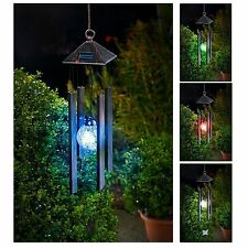 Hanging Wind Chimes Solar Powered Colour Changing Led Light Garden Windchimes
