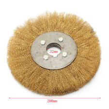 6/'/' inch Soft Brass Wire Brush Round Wheel For Bench Grinder 16mm Arbor