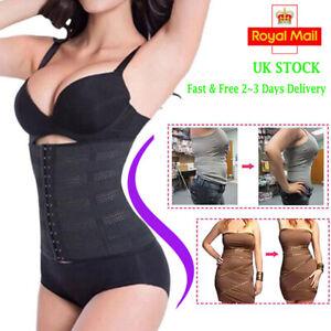Women Waist Trainer Body Shaper Tummy Wrap Girdle Belt Belly Fat Burner Corset @