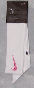 New-Womens-Nike-Head-Tie-Dri-Fit-2-0-White-Headband-Tennis-Run-Basketball-pink