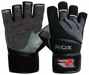 Rdx Leather Weight Lifting Gloves With Strap 5060335073051 Ebay