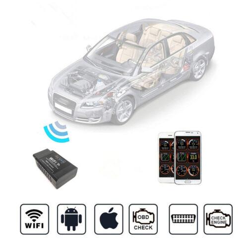 ELM327 WiFi OBD2 OBDII Interface Car Fault Diagnostic Scanner Code Reader Tool