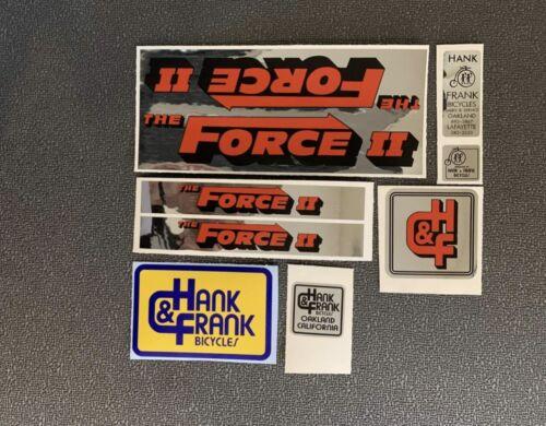 HANK /& FRANK FORCE /& FORCE II RESTORATION DECAL SET 8 decals