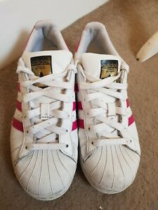 Details about Adidas Superstar Trainers Pink & White Size 4