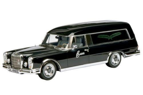 1 18 Schuco Mercedes-Benz 600 funeraria carrello negro Hearse