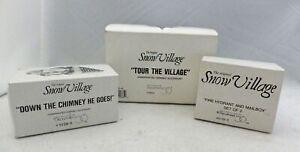 D56 Snow Village - set/lot of 3 pcs. 1 building & 2 Accessories - EUC - in Boxes