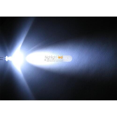 """50 LEDs 5mm wasserklar weiß Typ /""""WTN-5-14000pw/"""" weiße LED Leuchtdioden white wit"""
