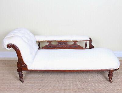 Antique Victorian Chaise Longue Sofa
