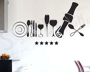 Wall stickers adesivi murali cucina men vasellame moderno for Stickers murali cucina