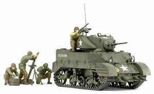 Tamiya-1-35-Military-Miniature-Series-No-313-US-Army-Light-Tank-M5A1-hedgehog