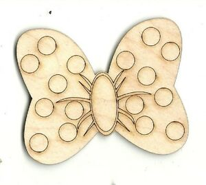 Minnie's Bow - Unfinished Laser Cut Out Wood Shape Craft Supply DSY76