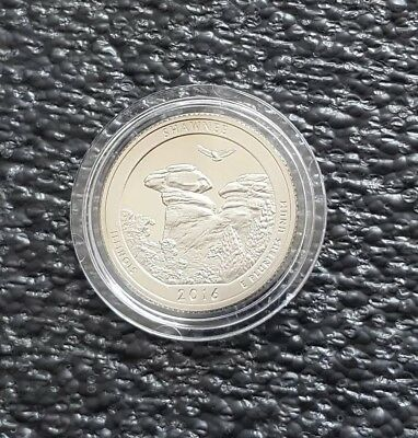 Silver 2016 S Shawnee Park Illinois Quarter Ultra Deep Cameo Combined Shipping
