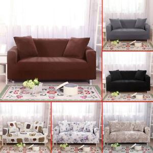 Doux élastique Tissu Sofa Couverture Facile Installer étendue