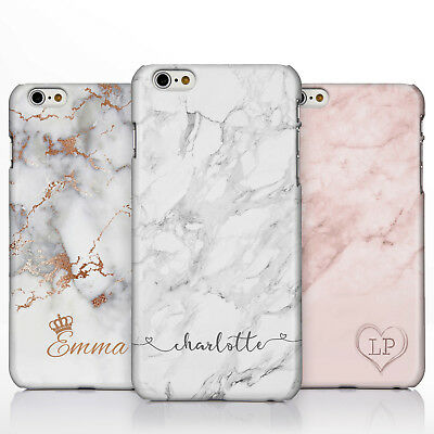 online store 1bac7 6a8df Personalised Marble Rose Gold Crown Heart Handwriting Name Phone Case for  iPhone | eBay