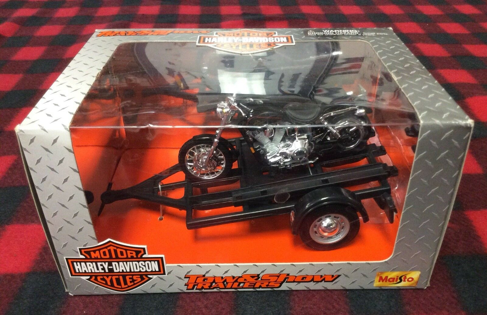 Tow & Show Trailer- Harley Davidson FL Panhead Die Cast Collectible