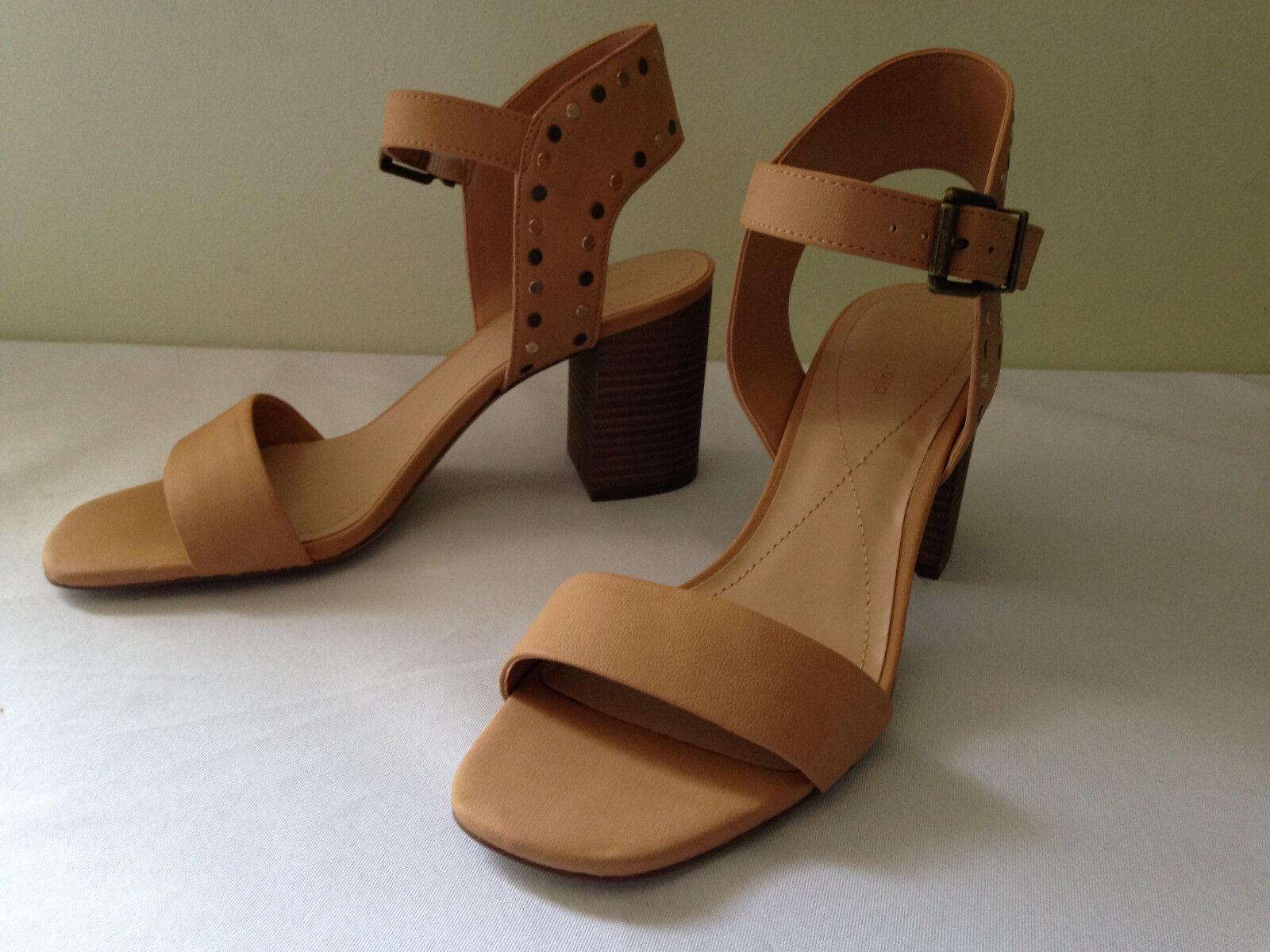 NEW Max Studio Beige Studded Vegan Leather SIRENTY Heels Sexy Sandals 9.5 M  118
