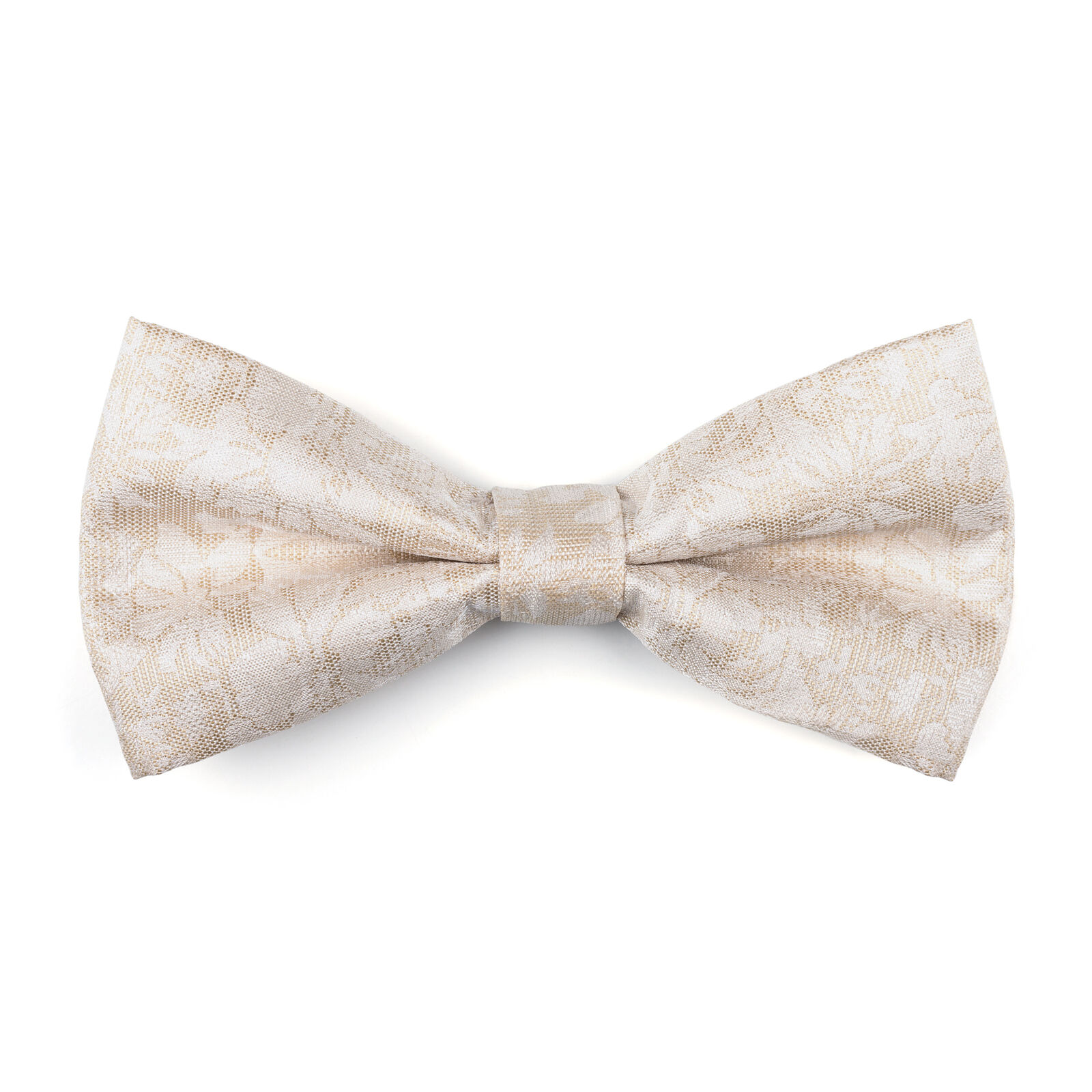 UK Men's Cloud Cream Wedding Bow Tie Floral 6 Button Jacquard Suit Vest Tailored