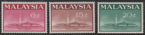 (21)MALAYSIA 1965 NATIONAL MOSQUE SET 3V FRESH MNH.