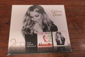 CELINE-DION-COFFRET-DOUBLE-ALBUM-CD-SANS-ATTENDRE-ENCORE-UN-SOIR-NEUF