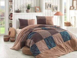 feinbiber bettw sche 200x220 cm 155x220 cm patchwork braun 135x200 fein biber 3 ebay. Black Bedroom Furniture Sets. Home Design Ideas